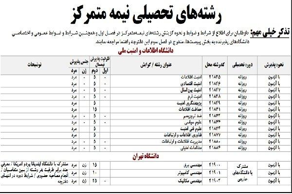 پذیرش دانشجو در دوره مشترک دانشگاه تهران و یک دانشگاه آمریکایی